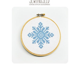 Snowflake Cross Stitch Pattern Instant Download