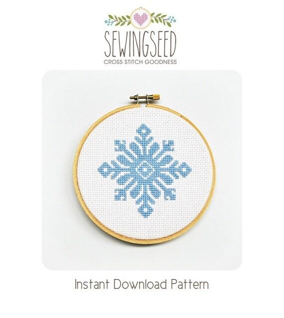 Snowflake Cross Stitch Pattern Instant Download