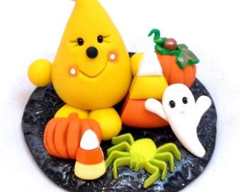Halloween Parker Figurine - Polymer Clay StoryBook Scene Sculpture