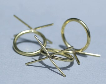 Brass Handmade Claw Ring Setting For Natural Stones or Whatever - Size 8
