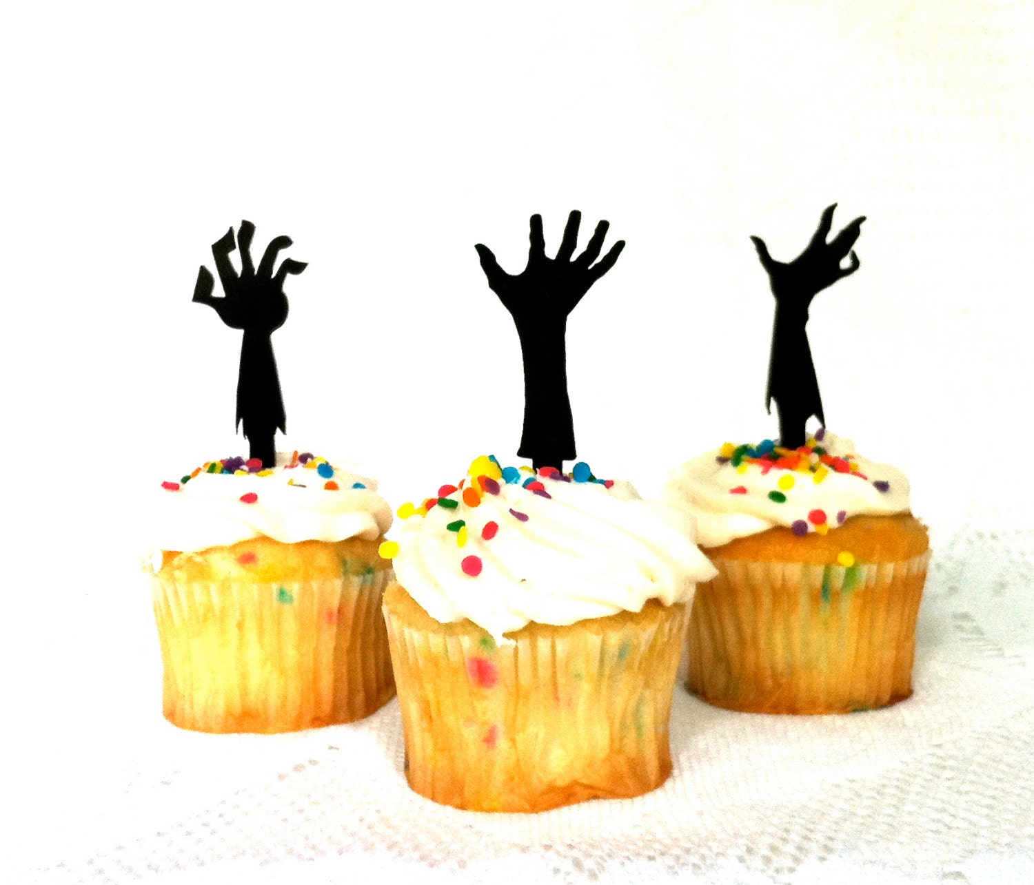 MADE In USA Zombie Apocalypse Cupcake Toppers Set of 3