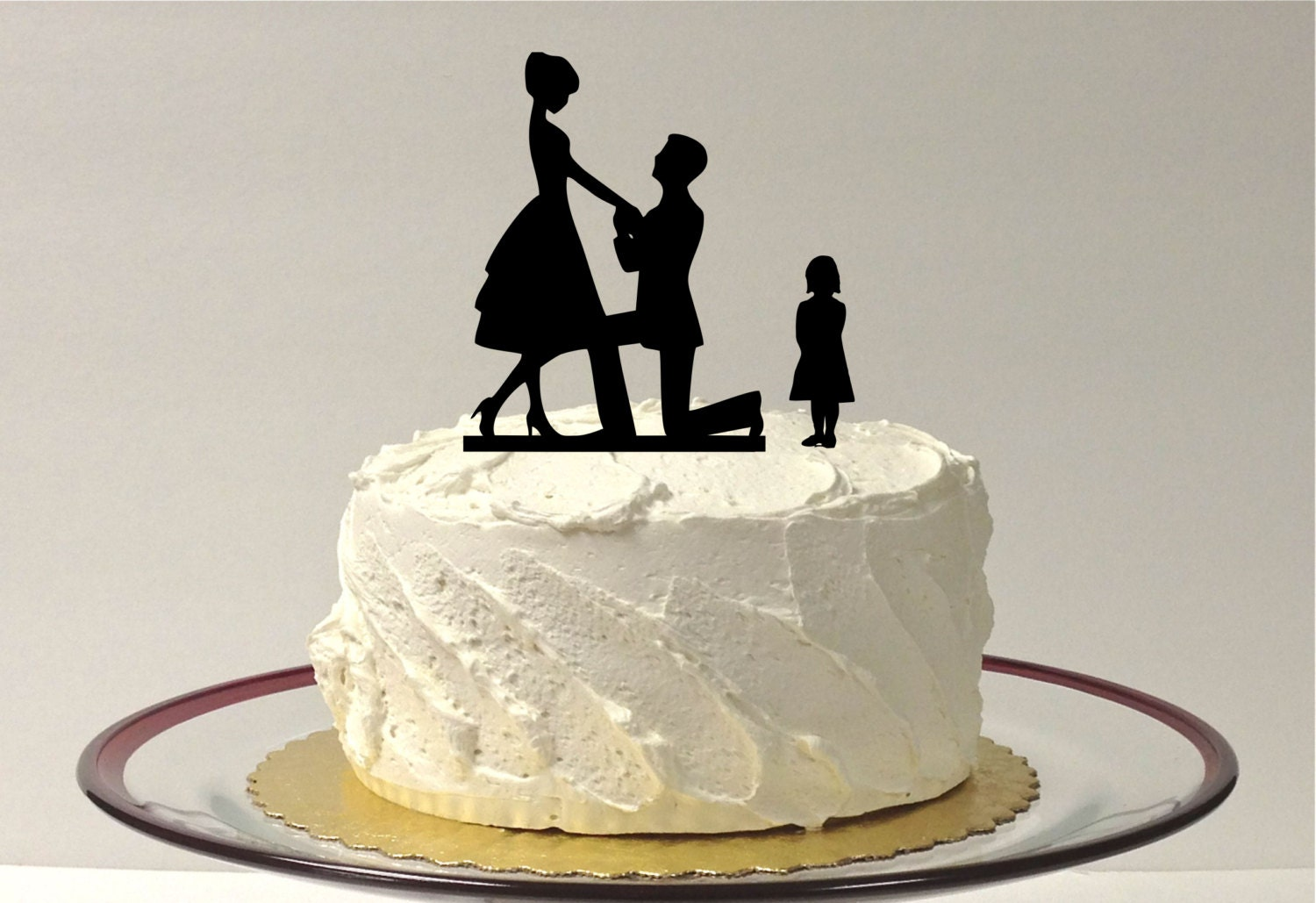 silhouette wedding cakes ideas engagement cake topper groom child silhouette 19823