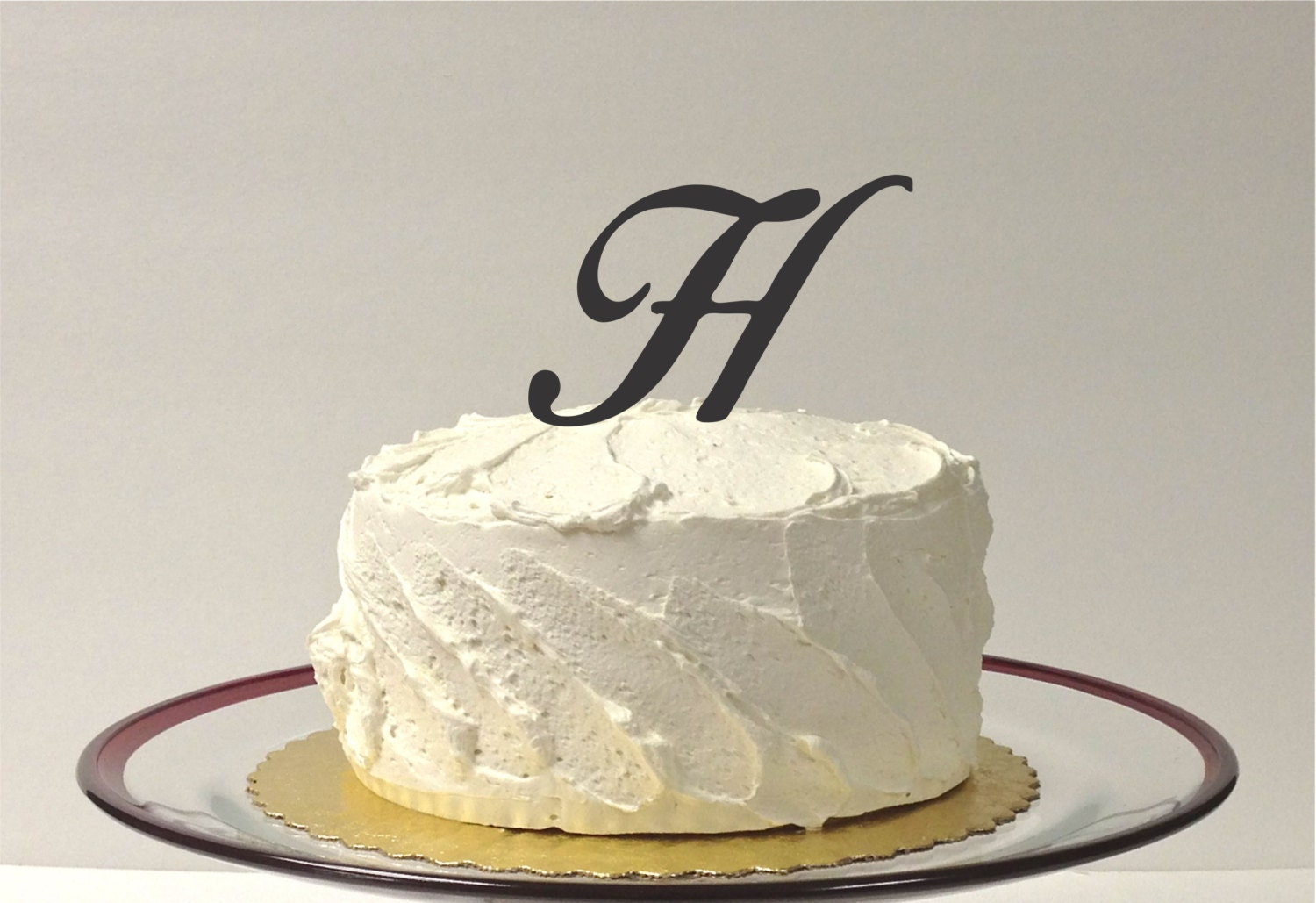letter h wedding cake topper made in usa letter h monogram wedding cake topper simple 16834
