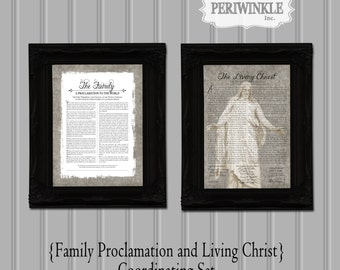 LDS The Living Christ and Family Proclamation Printable 8x10, 11x14, or 16x20 Digital File