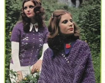 1970s Vintage Boho Crochet Patterns Booklet 6 ply Patons 303 from Australia ORIGINALS NOT PDF