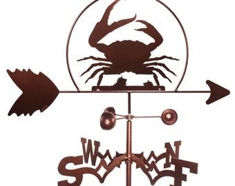 Hand Made Crab Shellfish Weathervane NEW