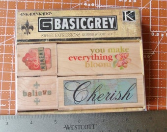 Sweet Expressions Rubber Stamp Set by Inkadinkado