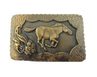 vintage HORSE BeLT BuCKLE stallion
