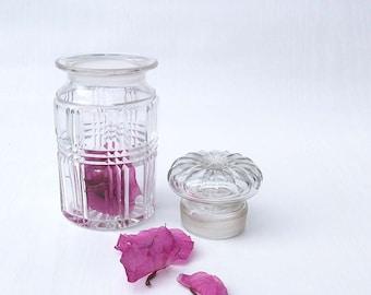 Vintage, Mini, Crystal Decanter / Jar with Lid