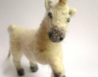 Unicorn, Needle felted unicorn