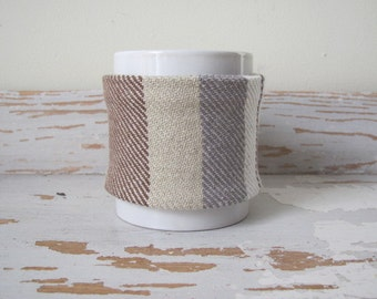 Brown Coffee Tea Large Mug Cozy, Mug Wrap Cosy, Rustic French Country Kitchen Home Decor Mocha Cafe Latte Java Coffee Cup Sleeve Foodie Gift