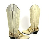Snakeskin and Leather Cowgirl Boot by Wrangler - Size 7M