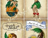 PDF Hawaiian Hula Girl Valentines