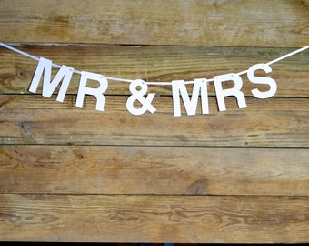 MR & MRS customizable banner - choose your color