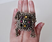 Large Vintage Tribal Belly Dance Ring