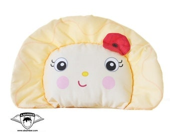 Perogy (Ukrainian Varenyk) Throw Pillow - Female - Cute Fabric Food Dumpling made by Adrianna Bamber