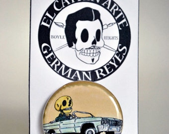 "Lowrider (Button Pin, Magnet, Pocket Mirror, Bottle Opener, 1"", 1.25"", and 2.25"")"