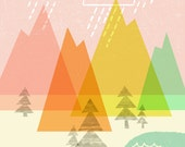 Raindrop Valley Print