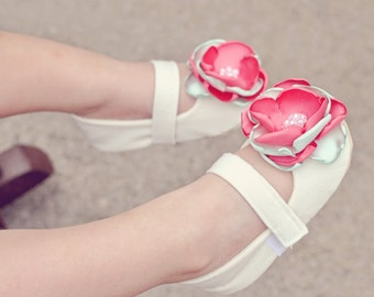 Toddler Girl Shoes Baby Girl Shoes Soft Soled Shoes Cream Wedding Shoes Easter Shoes Flower Girl Shoes Coral Mint Shoe Spring Shoe  - Willa