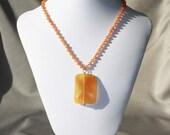 Peach Aventurine necklace...