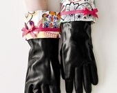 Girlie Day of the Dead Rubber Cleaning Gloves