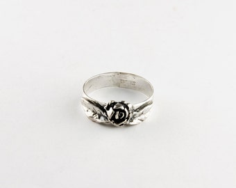 Floral Rose Sterling Silver Ring