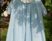 NwT Heirloom Baby BoY Newborn NB Blue Embroidered Embroidery Scripture Bible Verse Christian Sheep Day Gown Daygown Christening Come Home