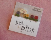 QUILTING PINS.  Perfect for Decorating Ornaments & Pin Cushions.