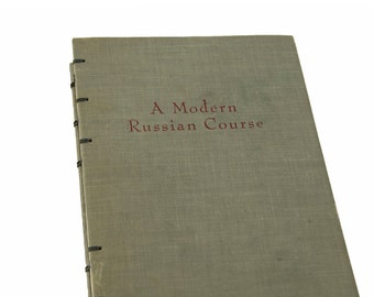 1962 RUSSIAN Vintage Lined Notebook Journal