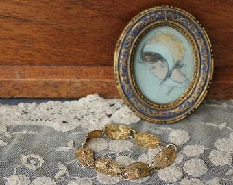 Vintage Sterling Filigree Bracelet with Gold Vermeil Wash   Sale was 58.00