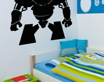 Vinyl Wall Decal Sticker Short Alien Robot 5146m