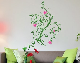 Vinyl Wall Decal Sticker Flower Vines 5321m