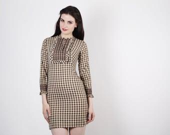 Short 60s Dress - 60s Gingham Dress  - The Simple Pleasures Dress  - 5015
