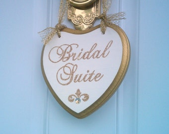 Wedding Sign SPARKLES Gold Wedding Decor Bridal Suite Sign with Crystals Bling Wedding Glitter Wedding Sign