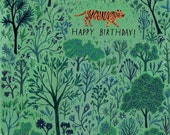 little tiger forest birthday card