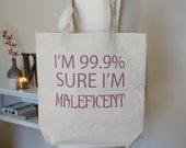 Maleficent, Disney sleeping beauty, maleficent tote bag, disney tote bag, 99.9 percent, tote bag