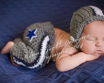 Dallas Cowboys baby, Newborn baby Dallas Cowboy football helmet pant set, Cowboys Football Outfit, Baby Dallas Cowboys Set, Baby Photo Prop