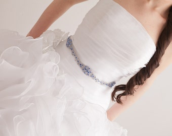 Crystal Belt - Wedding Belt - Wedding Sash - Prom Belt - Prom Sash - Something Blue Belt - Something Blue - Crystal Bridal Belt - SOPHIA