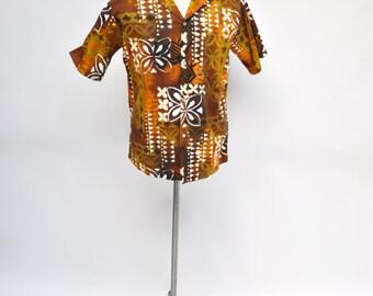 vintage HAWAIIAN shirt holo holo made in hawaii medium