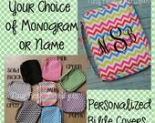 Personalized Chevron Bible Carrying Case - Your Choice of Monogram or Name