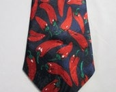 Red Hot Chili Peppers NECKTIE MENS Navy Blue Vintage Neck Tie New Deadstock 1980s Novelty Print