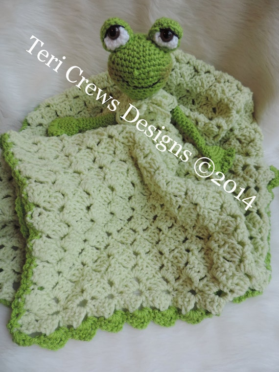 Free Crochet Pattern Huggy Blanket : Crochet Pattern Frog Huggy Lovey Blanket by Teri Crews Wool