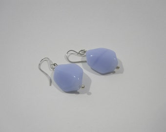 Free Shipping - Periwinkle Czech Glass Earrings