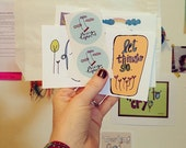 Goody Bag of Encouraging Goodness!! Mini Prints and Stickers!