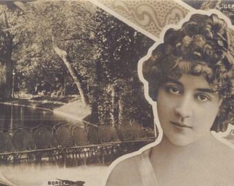 Lucy Gerard with Art Nouveau Treatment, by Reutlinger, circa 1900