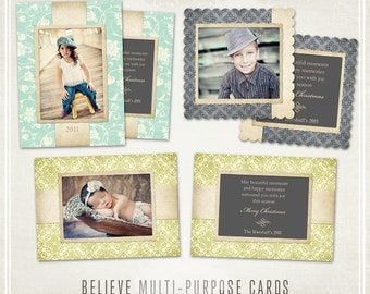 Believe Christmas Cards - Luxe Multipurpose