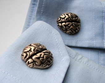 Grey matter brains cufflinks