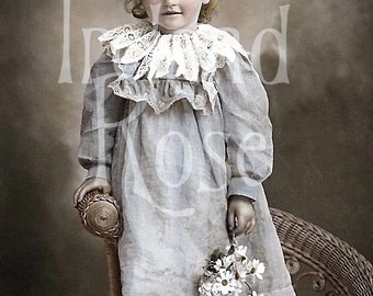 Alissa-Vintage Victorian Little Girl Photographic Image Download