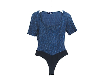 90's Lace Patterned Bodysuit size - S/M