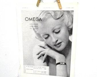 Vintage French Art Deco Era Ad, France Etrennes 1937, 1930s Paper Ephemera, L'Illustration